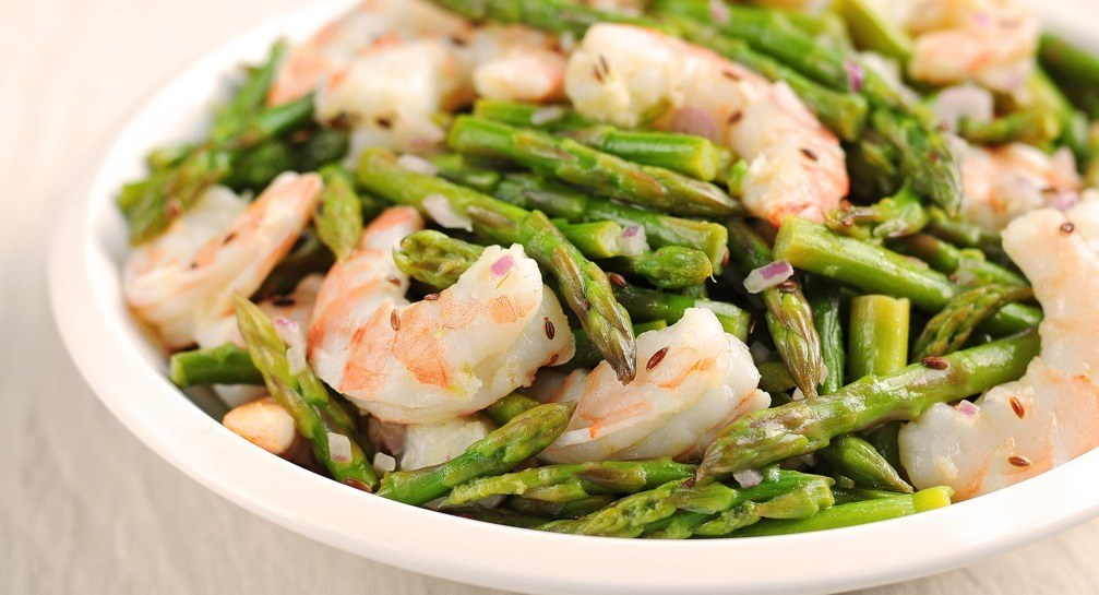 Shrimp And Asparagus Salad