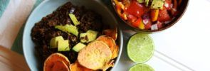 Sweet Potato Nachos with Vegetables