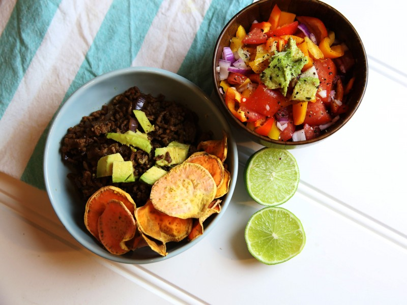 Sweet Potato Nachos with Vegetables